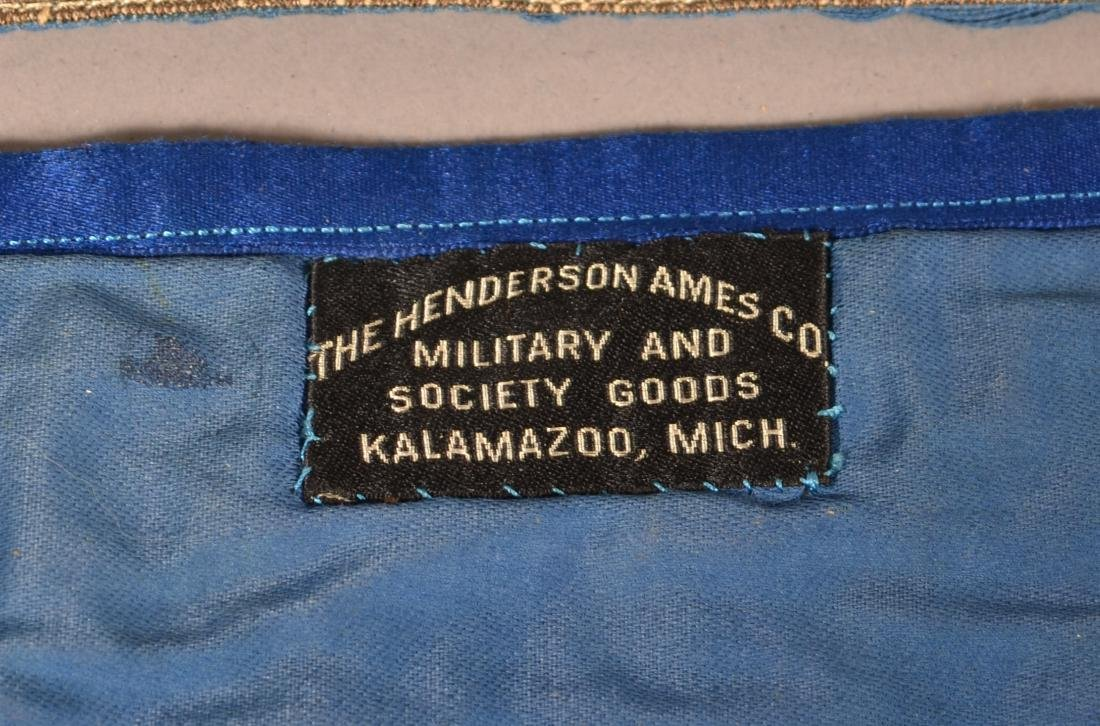 Three Masonic Gilt Thread Needlework  Aprons. - 4