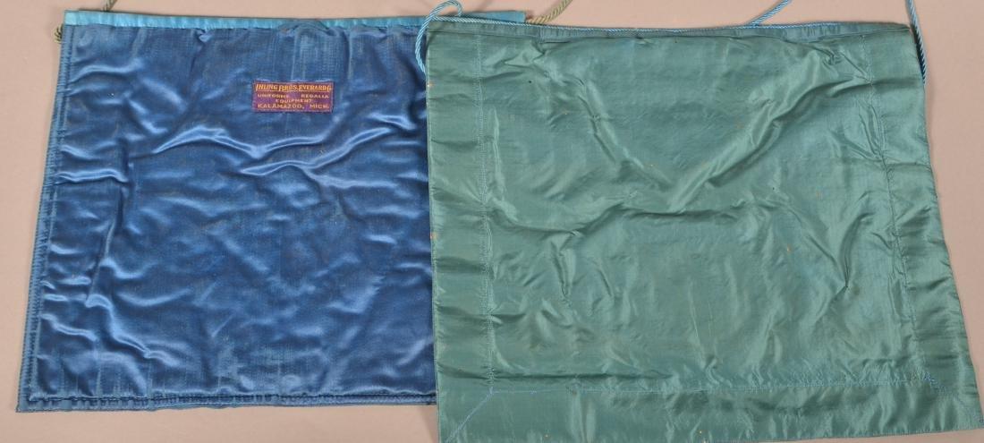 Three Masonic Gilt Thread Needlework  Aprons. - 5
