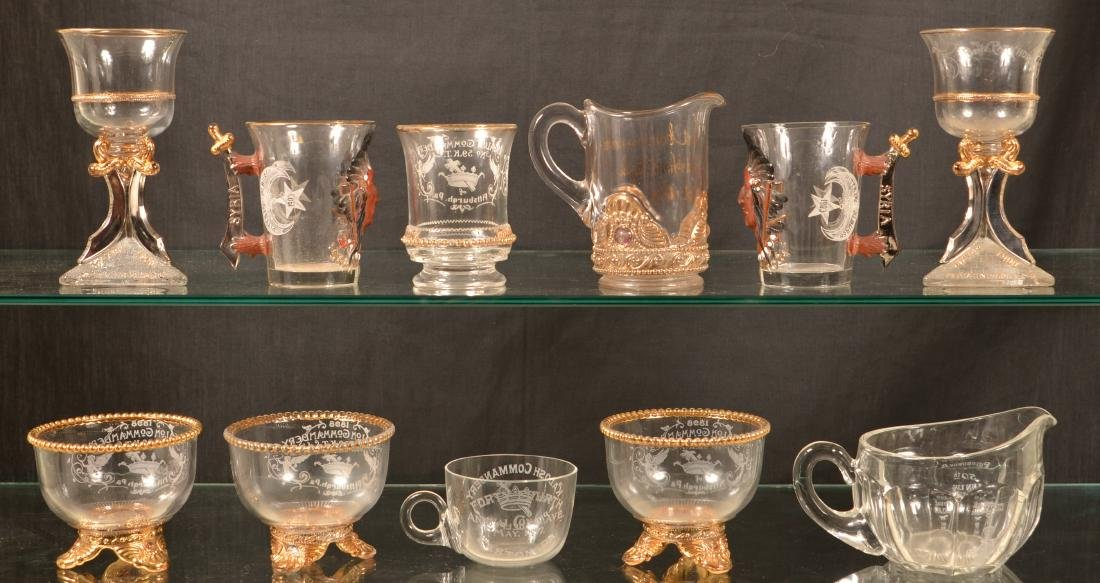 Lot of Antique /Vintage Masonic Glassware. - 2