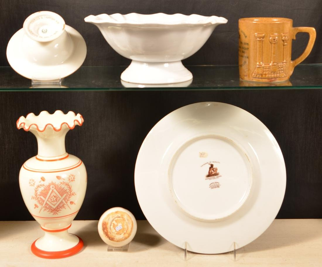 Lot of Antique/Vintage Masonic Transfer China. - 2