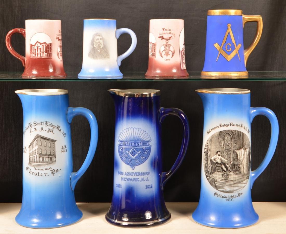 Masonic Lodge Transfer Decorated China.