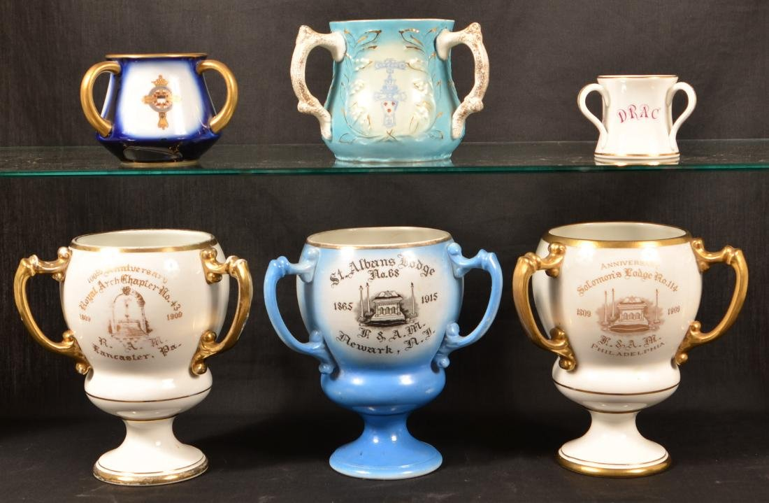 Masonic Transfer China Loving Cups.