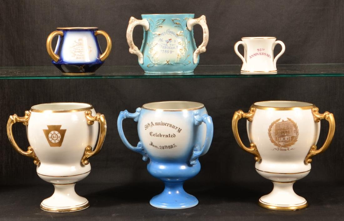 Masonic Transfer China Loving Cups. - 2