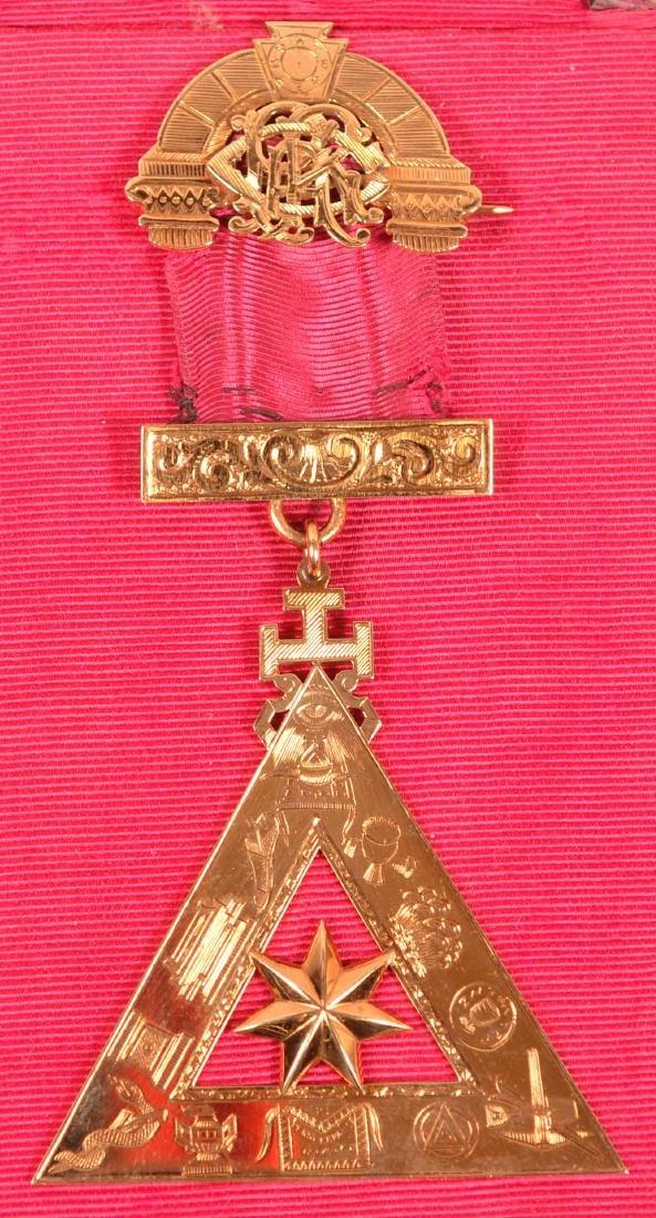 14k Masonic Presentation Badge