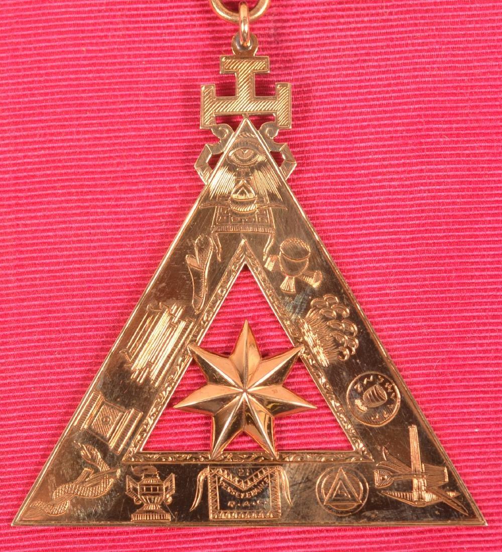 14k Masonic Presentation Badge - 2