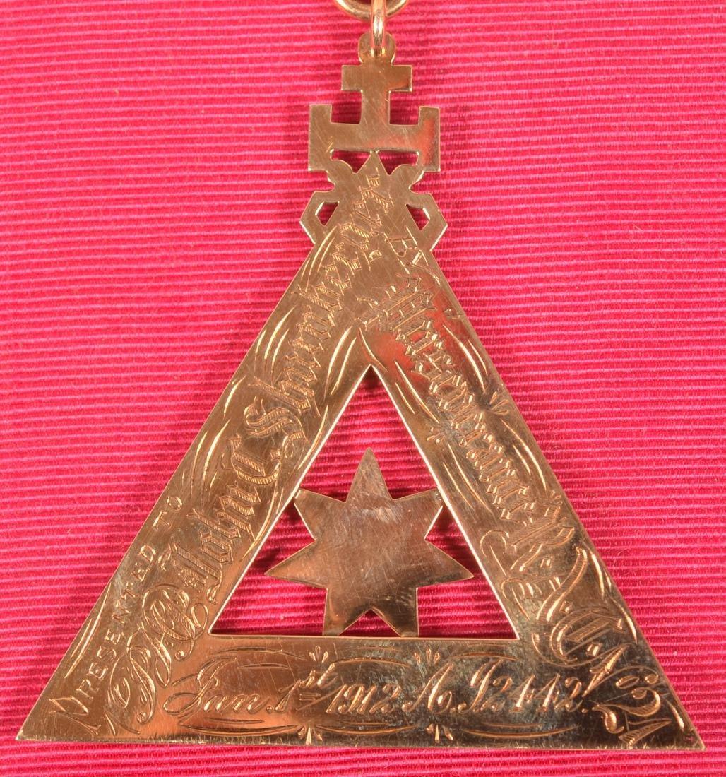14k Masonic Presentation Badge - 4