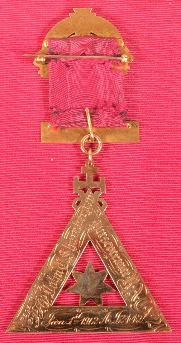 14k Masonic Presentation Badge - 5