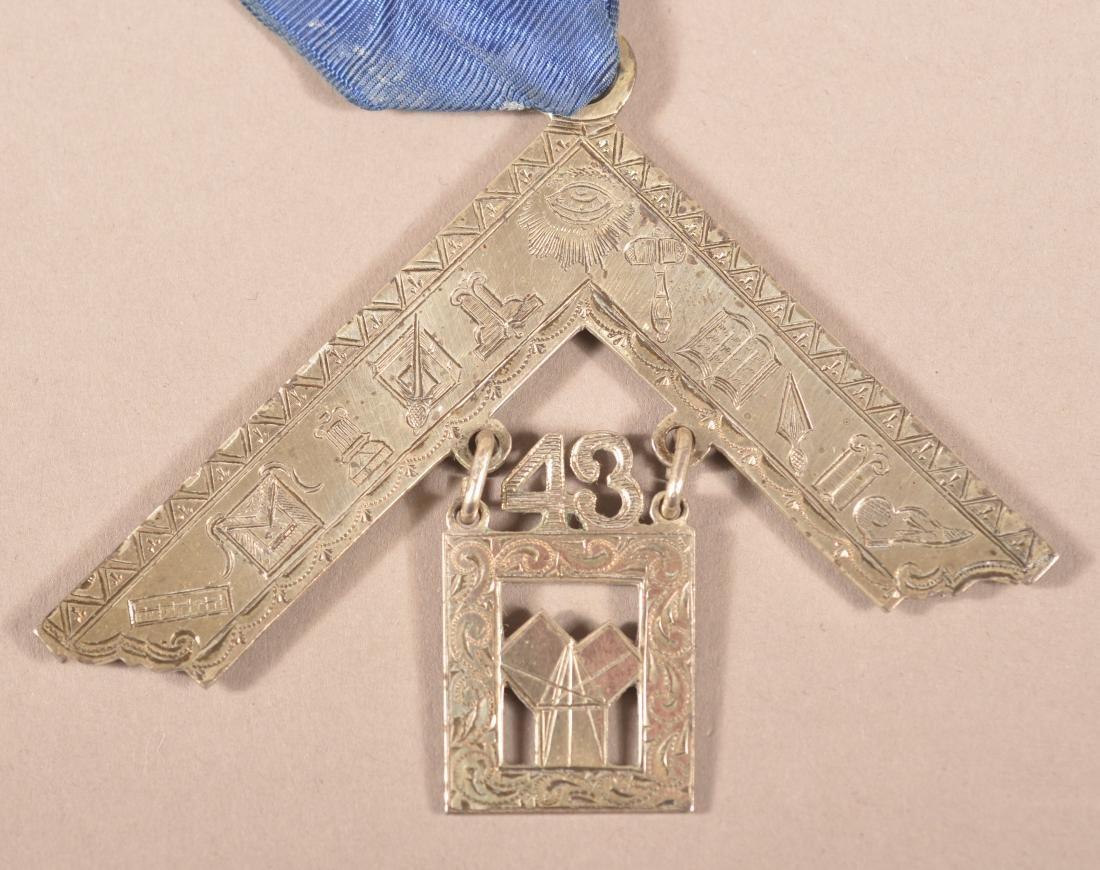2 - Sterling Silver Masonic Presentation Medals - 2