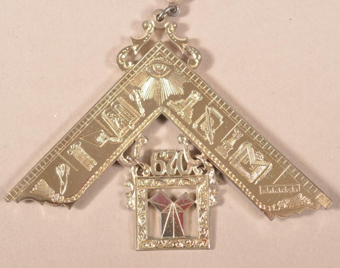 2 - Sterling Silver Masonic Presentation Medals - 3