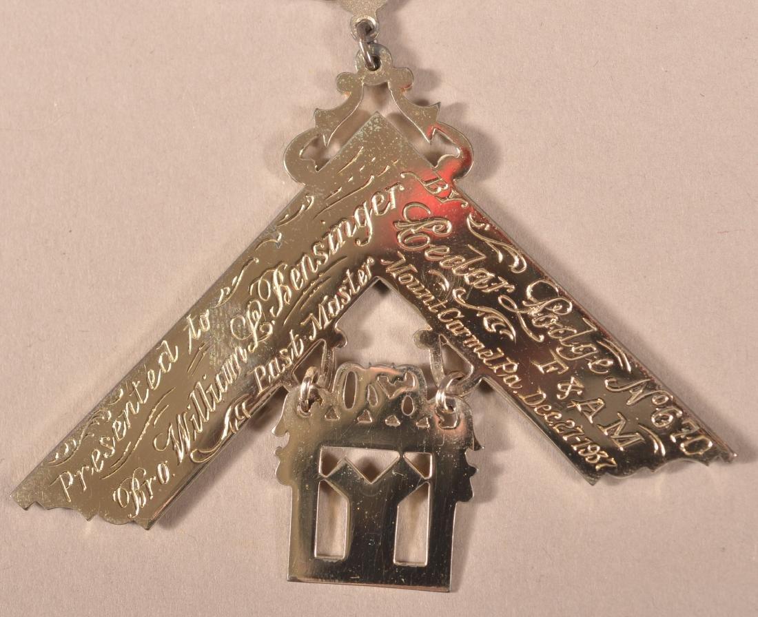 2 - Sterling Silver Masonic Presentation Medals - 5