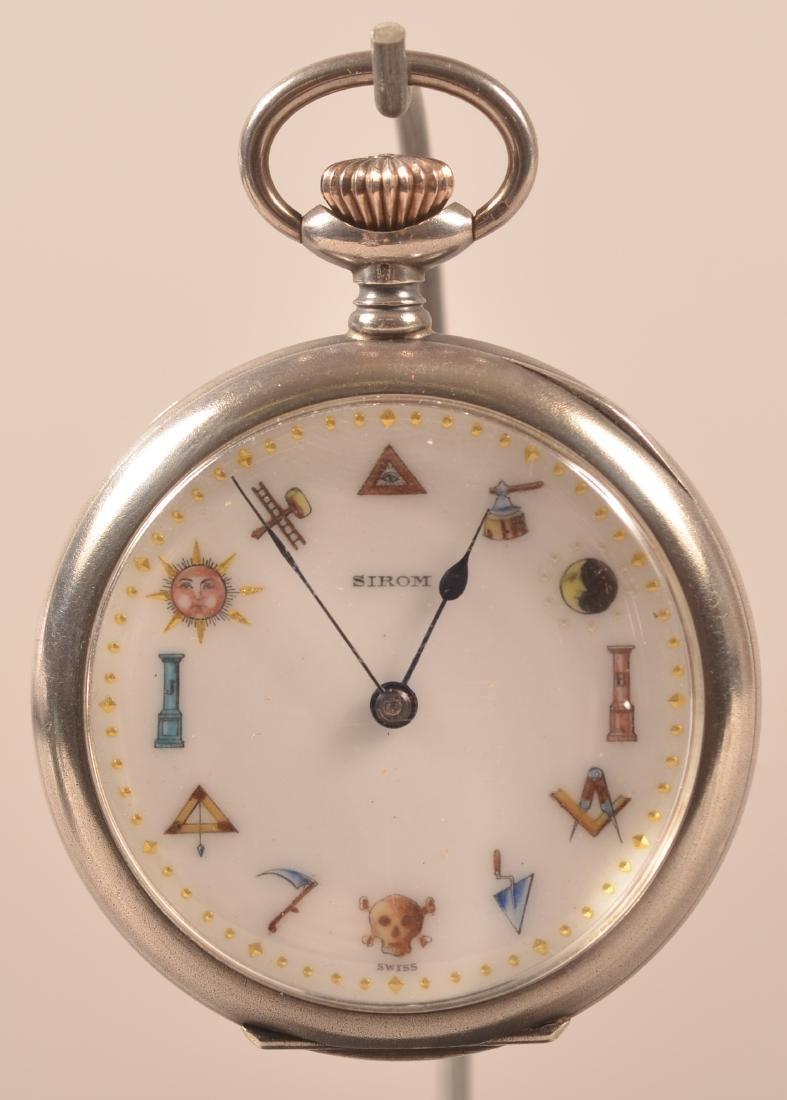 Swiss Cretets Masonic Pocket Watch