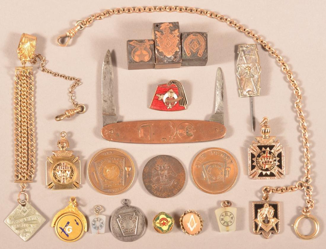 19 pcs. Misc. Masonic