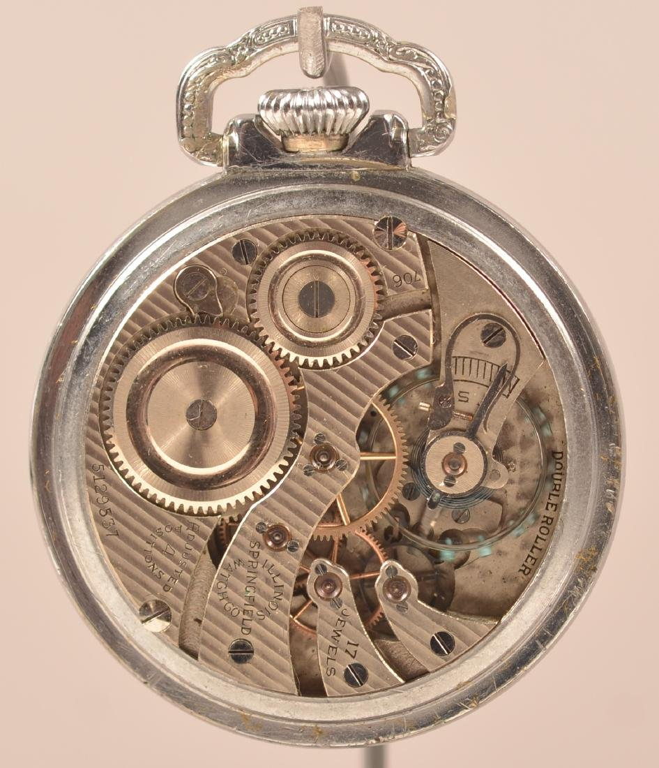 Illinois Masonic Dial Pocket Watch - 2