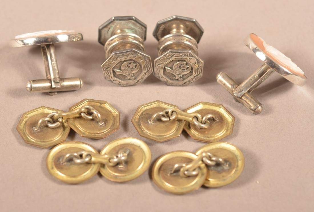 4 Pairs of Vintage Masonic Cufflinks - 2