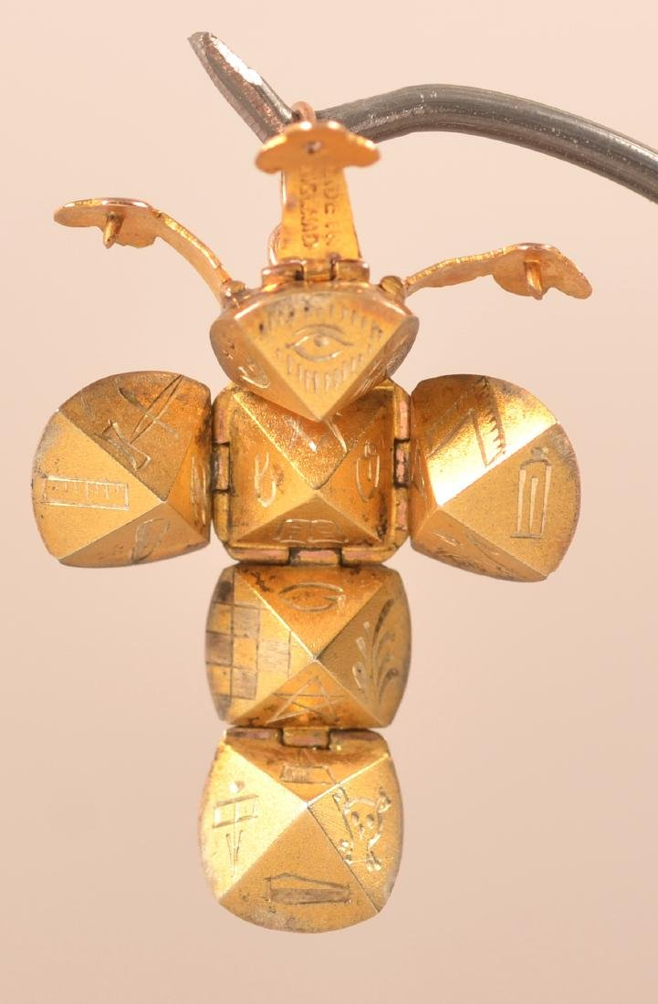 9k Masonic Ball Folding Secret Watch Fob