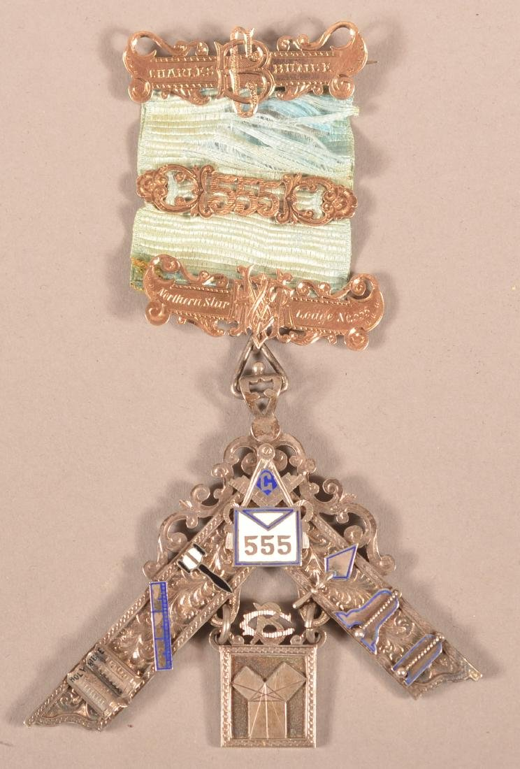 Mixed Metal Masonic Presentation Medal