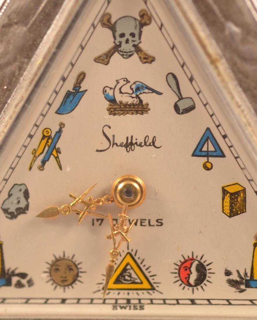 Unusual Triangular Masonic Pocket Watch - 2