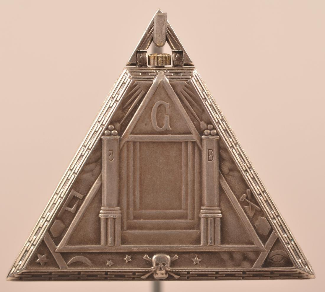 Unusual Triangular Masonic Pocket Watch - 3