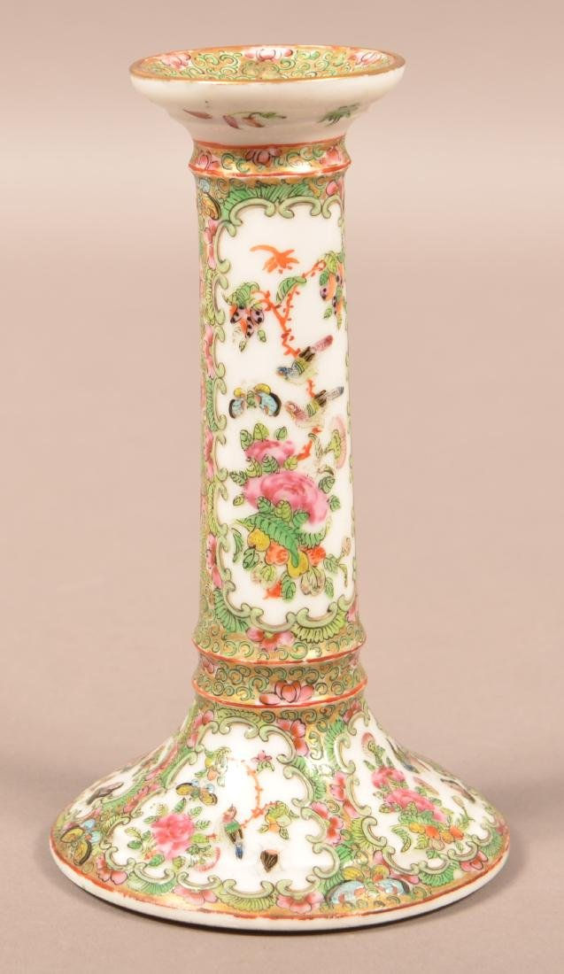 19th Century Rose Medallion Candle Stick.