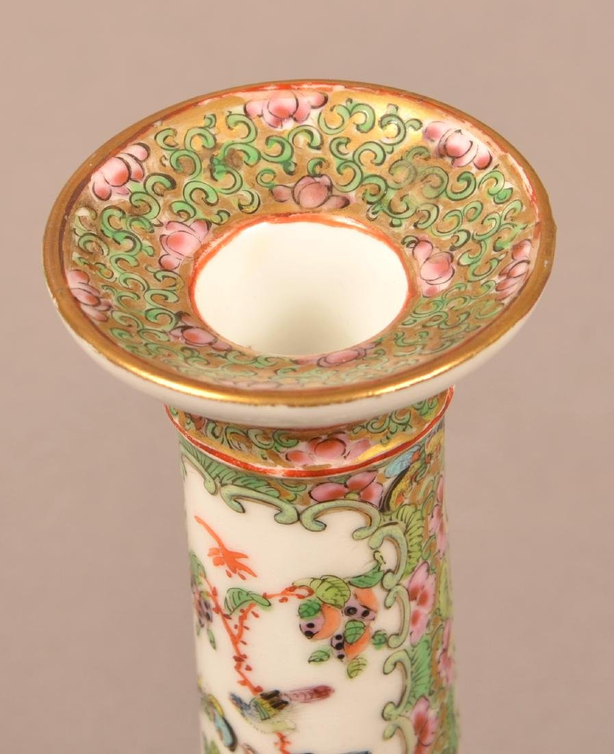 19th Century Rose Medallion Candle Stick. - 2