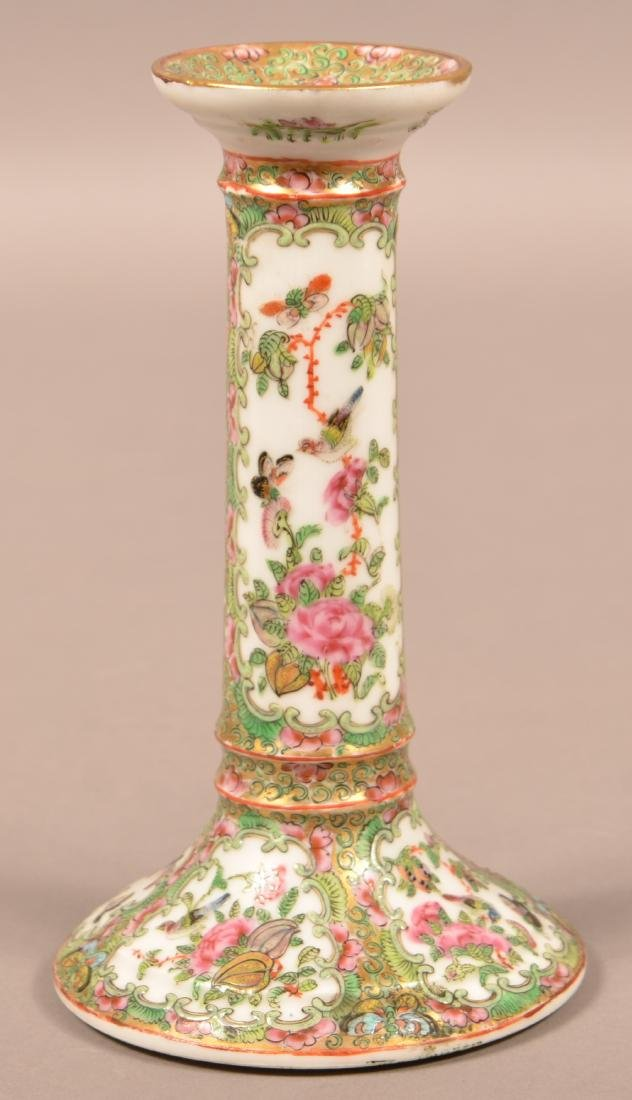 19th Century Rose Medallion Candle Stick. - 3