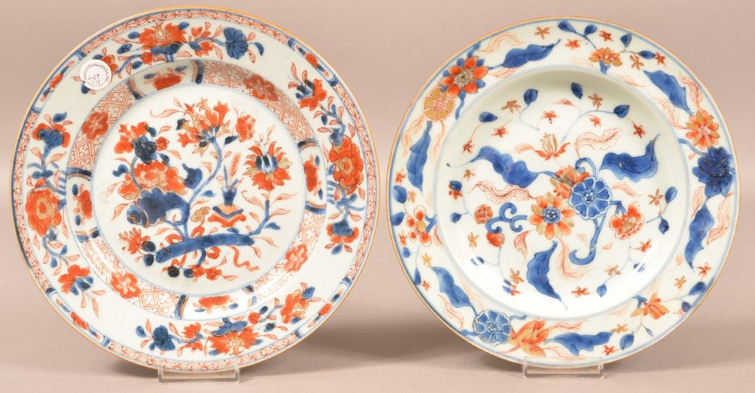 Pair of 18th Century Chinese Imari Plates.