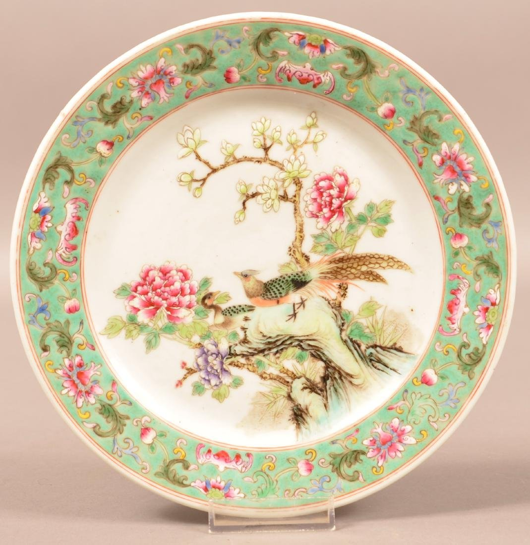 20th C. Famille Rose Export Porcelain Plate.