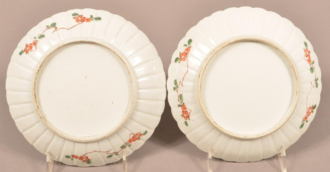 Pair of 18th Cent. Kangxi Famille Verte Plates. - 2