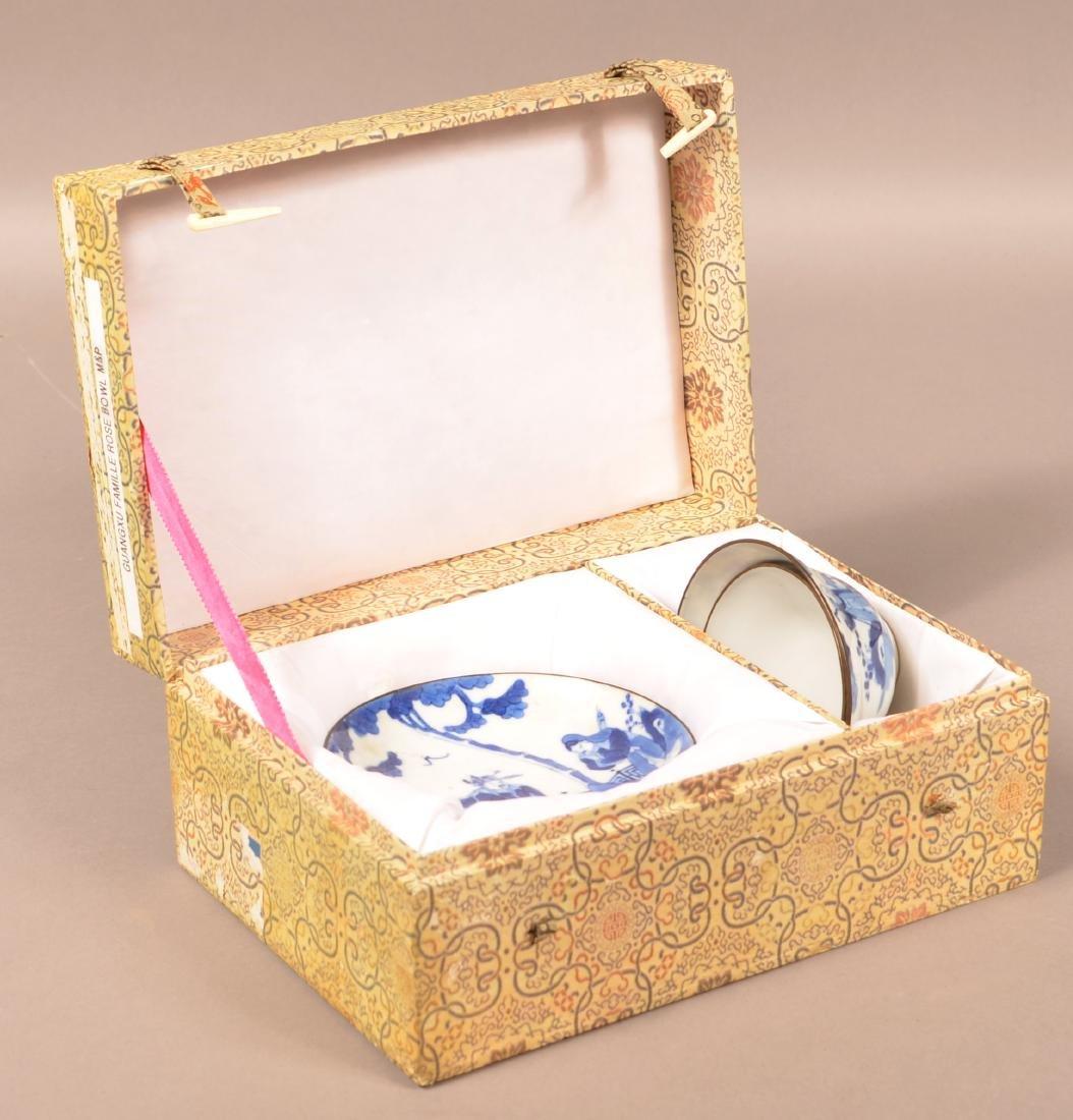 19th C. Blue & White Chinese Porcelain Tea Cup Set. - 2