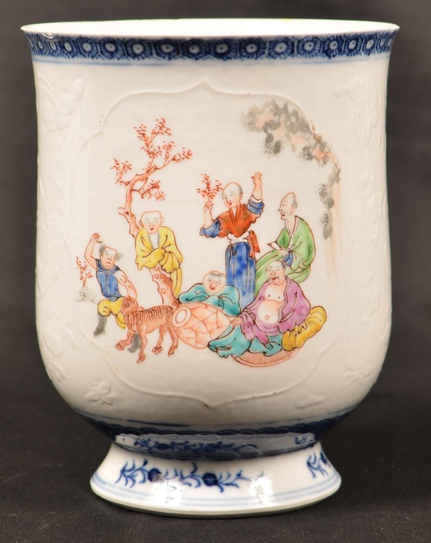 18th Century Chinese Export Porcelain Mug.