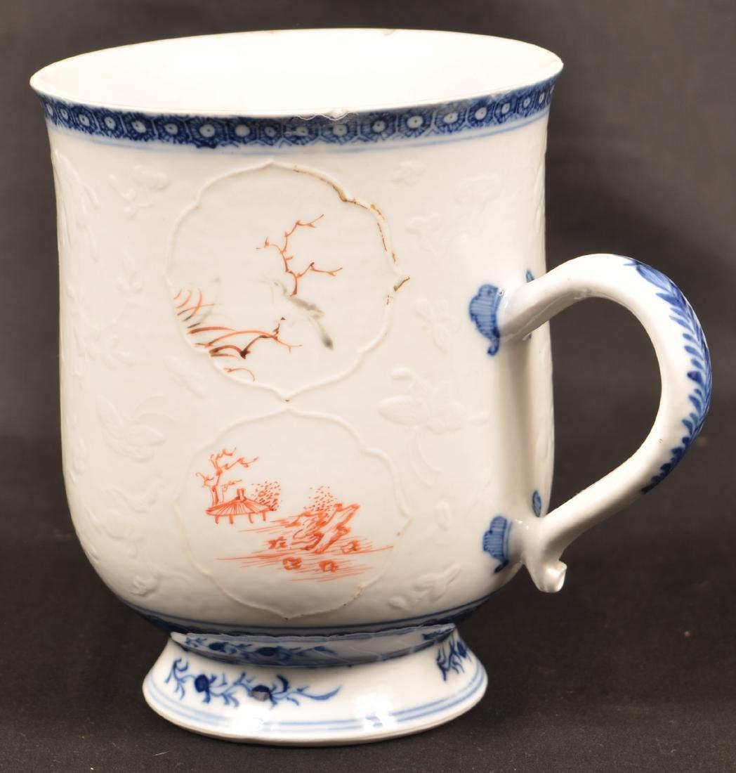 18th Century Chinese Export Porcelain Mug. - 3
