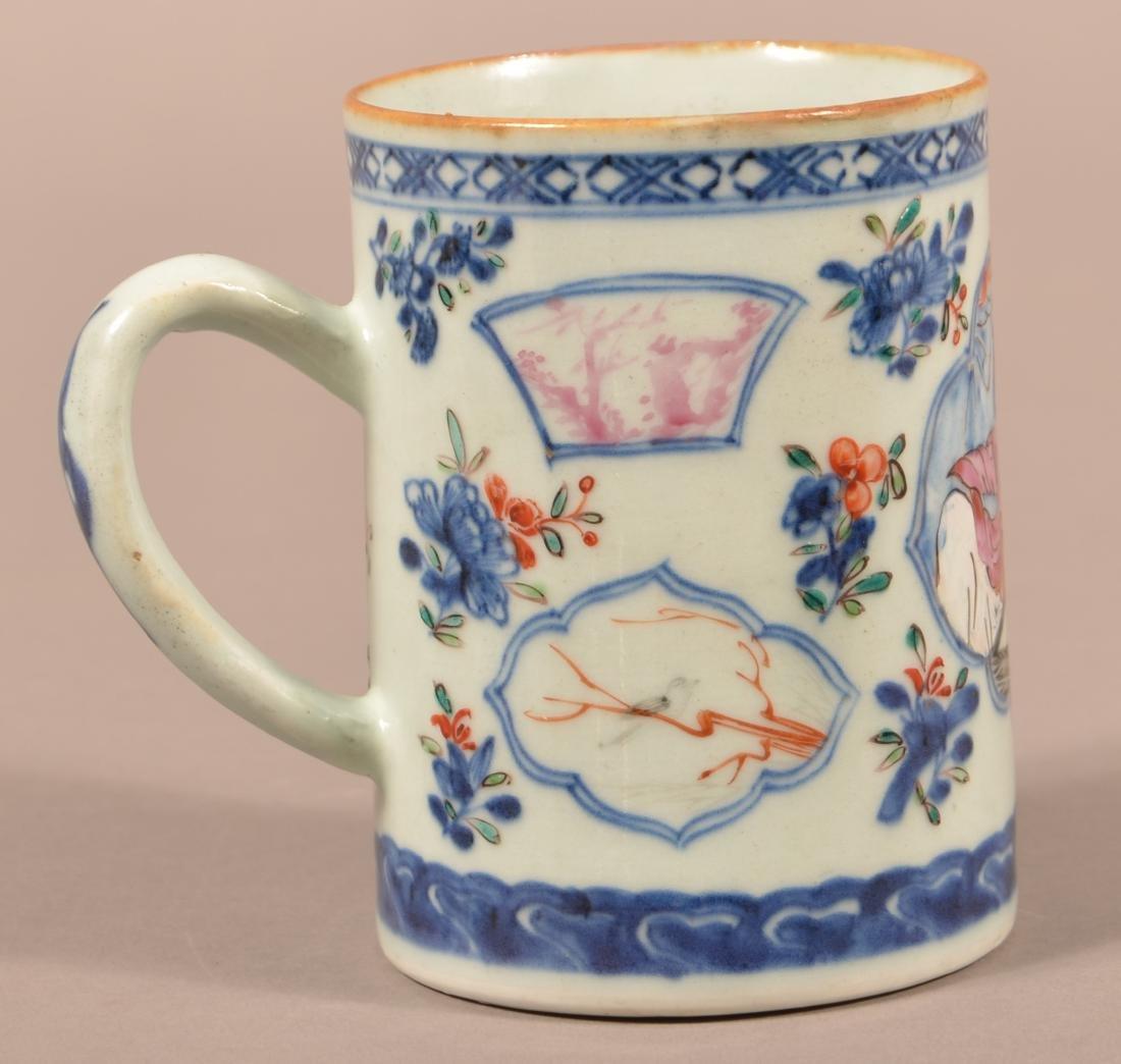 18th Cent. Export Porcelain Famille Rose Mug. - 2