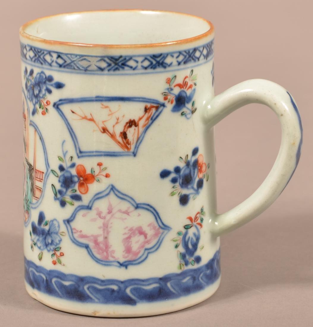 18th Cent. Export Porcelain Famille Rose Mug. - 3