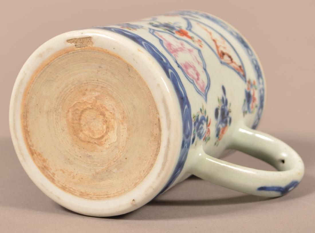 18th Cent. Export Porcelain Famille Rose Mug. - 4