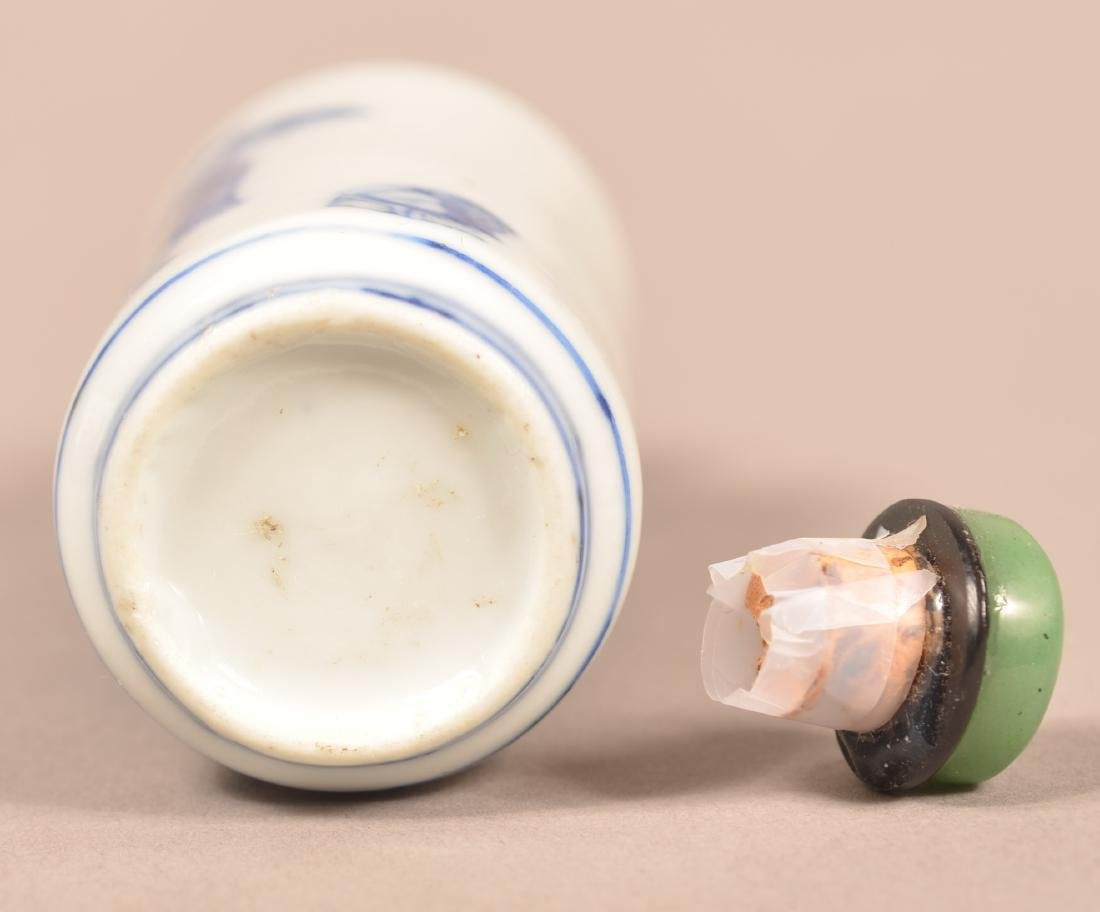 19th C. Chinese Porcelain Snuff Bottle. - 3