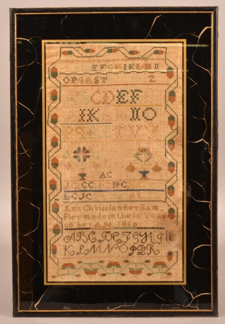 Early 19th Century Needlework Sampler.
