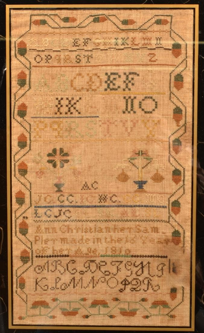 Early 19th Century Needlework Sampler. - 2