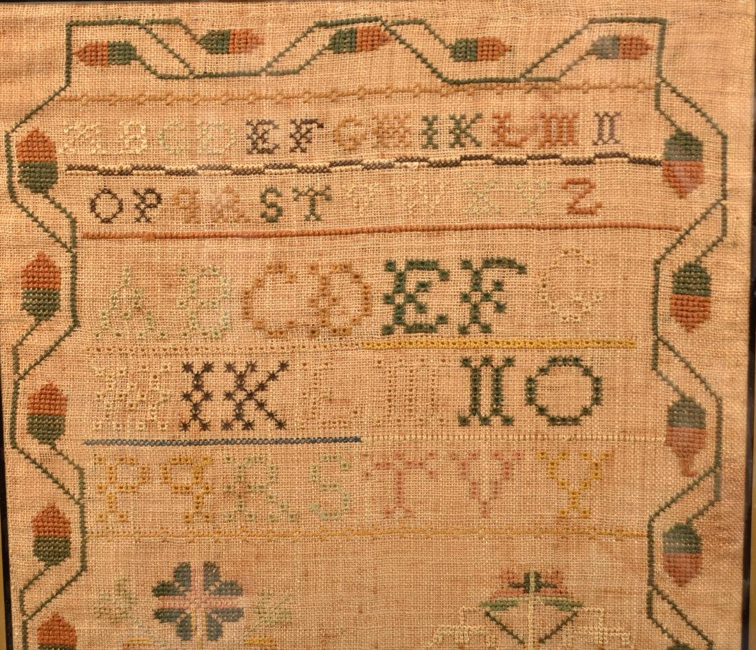 Early 19th Century Needlework Sampler. - 3
