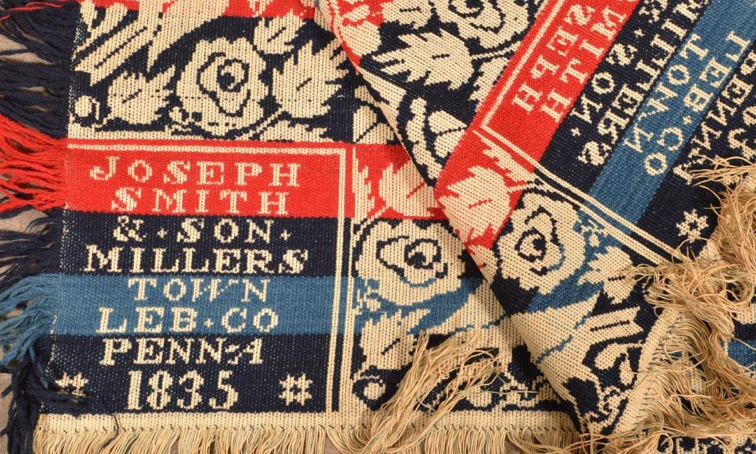 1835 Lebanon County, PA Jacquard Coverlet. - 3