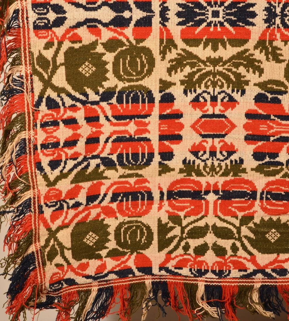 Mid 19th Century PA Jacquard Coverlet. - 2