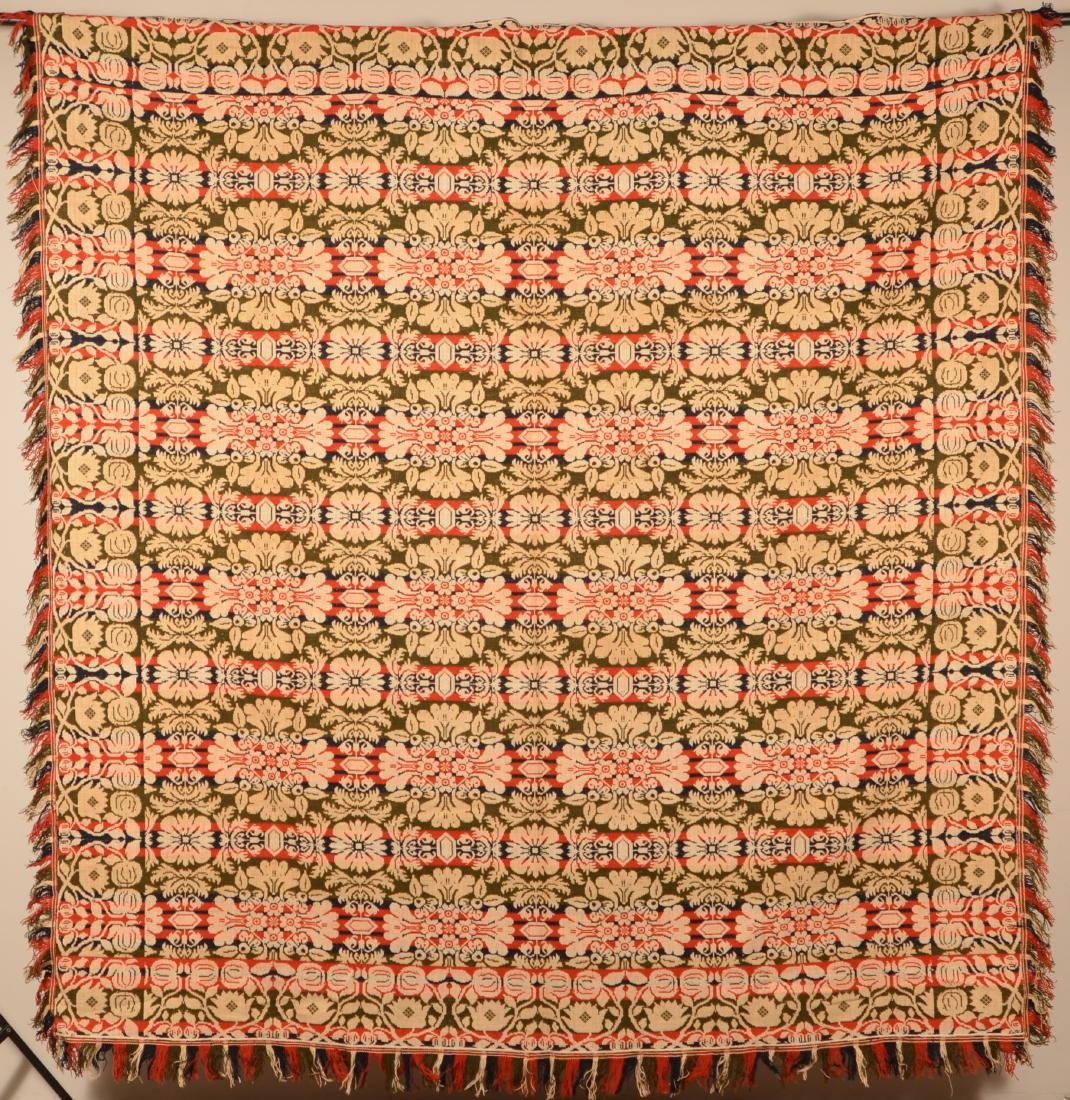 Mid 19th Century PA Jacquard Coverlet. - 3