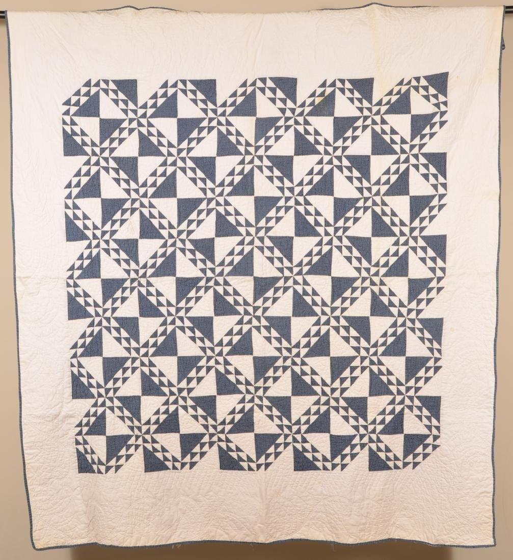 Irish Chain Pattern Patchwork Quilt.
