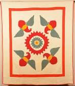 Antique/Vintage Eagle Pattern Applique Quilt.