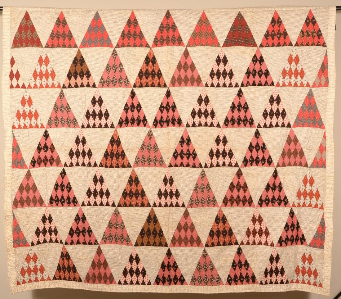 Antique/Vintage Geometric Patchwork Quilt.