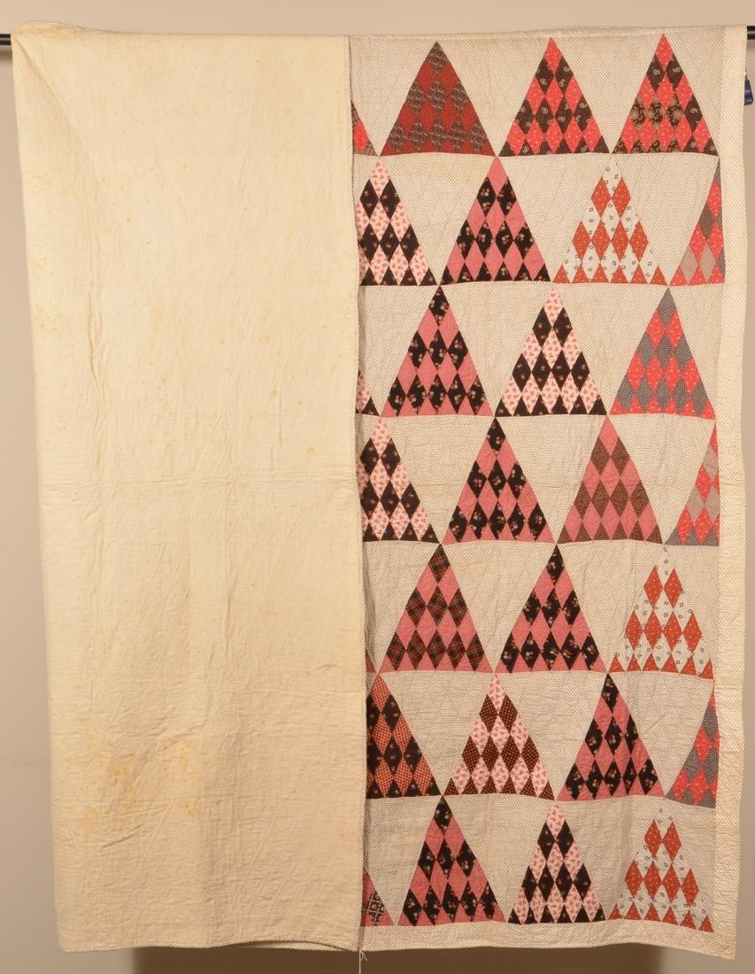Antique/Vintage Geometric Patchwork Quilt. - 4