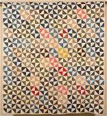 Geometric Pattern Patchwork Quilt