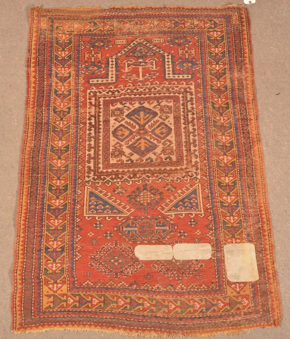 Antique Geometric Pattern Oriental Area Rug. - 5