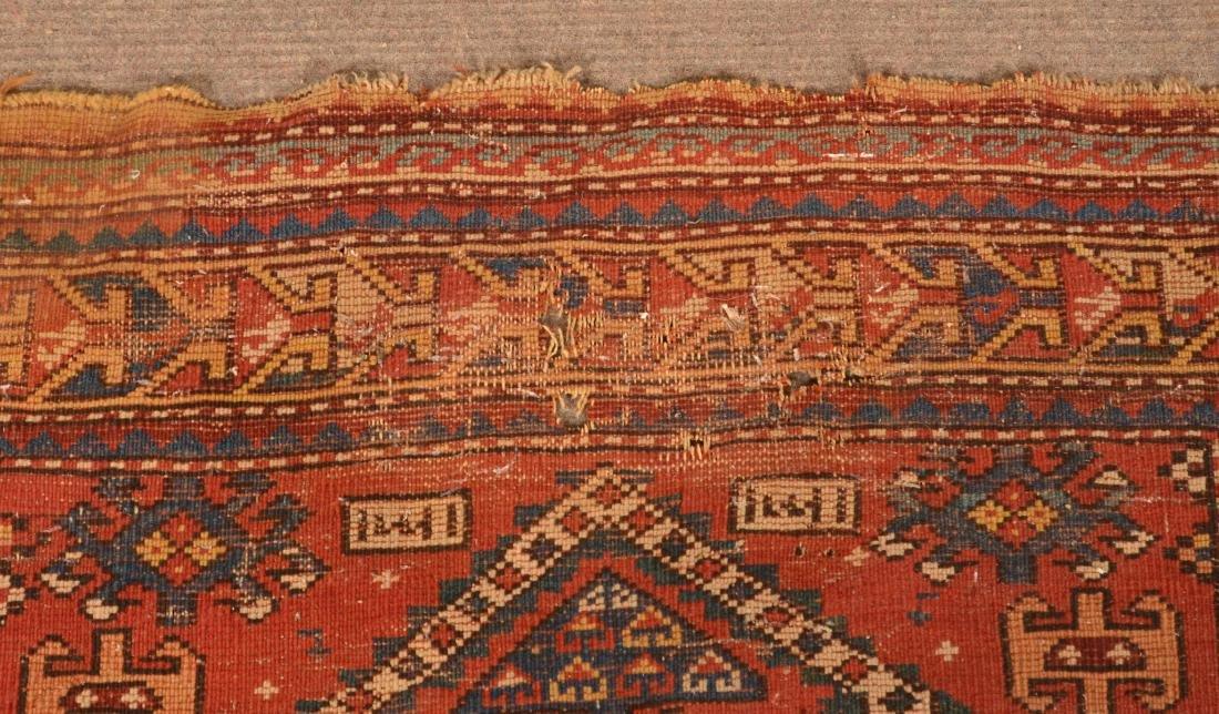 Antique Geometric Pattern Oriental Area Rug. - 6