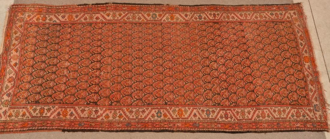 Antique Geometric Pattern Oriental Area Rug. - 7