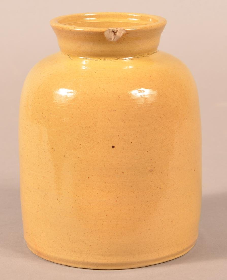 Late 19th Century Yellowware Preserve Jar. - 2